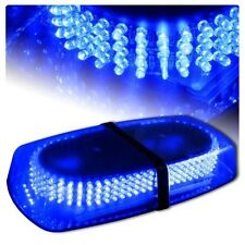 Excellent Oval 12V 240 LED Emergency Hazard Warning Mini Bar Strobe Light- Blue