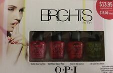 OPI Mini Size 4 Pc Nail Polish Box Set NEW Brights