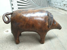DIMITRI OMERSA ABERCROMBIE FITCH PIG LEATHER OTTOMAN TABOURET FOOTSTOOL 1960s