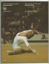 Orig.Complete PRG    Olympic Games MONTREAL 1976  -  GYMNASTICS  !!   VERY RARE