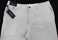 Men's POLO RALPH LAUREN Khaki Beige LINEN SILK + Classic Fit Pants 40x32 NEW NWT