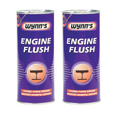 2 x Wynns Engine & Manual Gearbox Flush Cleaner Additive Petrol & Diesel 425ml