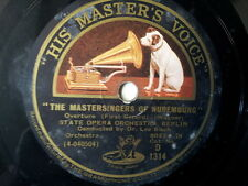 "78 rpm 12"" Wagner THE MASTERSINGERS OF NUERNBERG, Blech"