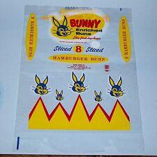 2 Vintage Bunny Bread Hamburger Bun Wrappers EX