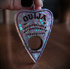 Faux White Opal Ouija Spirit Board Planchette Necklace Occult/Goth/Lolita/Witch