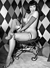 8x10 Print Sexy Model Pin Up Bettie Page Nudes #BP200
