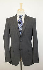 New. VERSACE COLLECTION Gray Nailhead Wool 2 Button Suit 48/38 R Drop 8 $1395