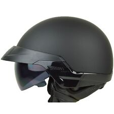 Size L - PGR B20 MATTE BLACK Aviator Motorcycle DOT Half Helmet Chopper Harley