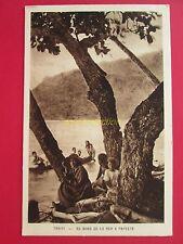 CPA TAHITI PAPEETE au bord de la mer , société des missions évangéliques