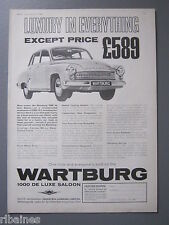 R&L Ex-Mag Advert: Wartburg 1000 DeLuxe Saloon / Hardy Spicer Propeller Shafts
