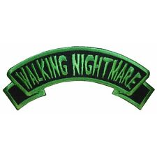"""Walking Nightmare"" Name Tag Zombie Psycho Kreepsville Embroidered Iron On Patch"