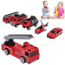 5pcs 1:64 Scale Alloy Fire Fighting Truck Helicopter Models Kids Child Car Toy