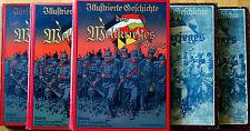 ILLUSTRIERTE GESCHICHTE DES WELTKRIEGES 1914-18 ANTON HOFFMANN MÜNCHEN 5 BÄNDE