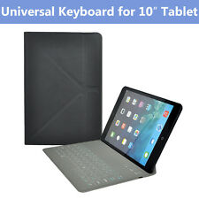 "Ultra Slim Bluetooth Keyboard Folio Case for Apple Android Tablets (10"")"