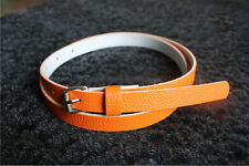 New 8 Colors Fashion Women Lady Faux Leather Thin Skinny Waist Belt Buckle