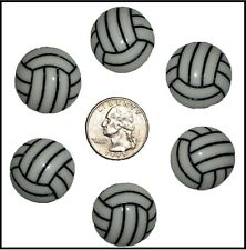 6 PC BUMP SET SPIKE VOLLEYBALL RESIN FLATBACK FLAT BACK RESINS