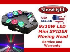 ShowLight RGBW LED 9x10W 4in1 MINI SPIDER Moving Stage Light (small form)