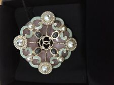 Chanel NWT Pink, Green & White Faux Pearl Brooch (ORIG $1100)