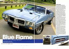 1969 PONTIAC FIREBIRD 400  ~  GREAT 6-PAGE ARTICLE / AD