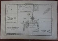 1787 ISLES DE LA REINE CHARLOTTE map Bonne Egmont Lord Howe Carteret Islands