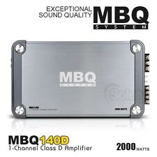 New MBQ Systems 2000W 1 Channel Class D Monoblock Car Amplifier for Subwoofer