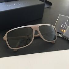 Porsche Design Eyewear P8000 P8554 Men's Gray Titanium Rectangular Sunglasses