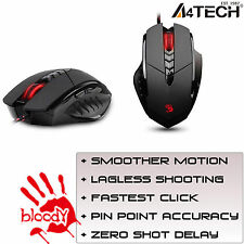 A4 Tech sanguinoso V7M COMPUTER PC Gaming Mouse multi-core gun3 LED 3200dpi-NUOVO