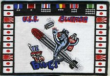 USS Bluefish SS 222 - WWII Battleflag BC Patch Cat No C6140