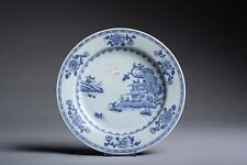 Antique Nanking Cargo Shipwreck Porcelain Blue on White Plate - 1750 AD