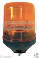 12V/24V SINGLE BOLT/POINT/PIN XENON STROBE FLASHING AMBER/ORANGE RECOVERY BEACON