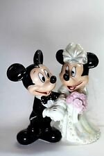 Mickey Minnie Mouse Bridal Wedding Cake Topper Figurine Shiny Disney