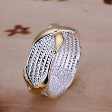 Hot Retro Solid 925 Sterling Silver Lady Men Fashion Jewelry Silver Ring