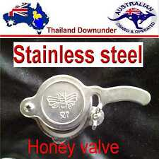 HONEY GATE VALVE,  STAINLESS STEEL EASY FIT  TAP BEE KEEPING. APIARY EQUIPMENT