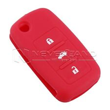 Key Case Cover For VW Silicone Volkswagen GOLF BORA PASSAT BEETLE Jetta Red