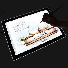 """HomCom 19"""" LED Artist Stencil Board Tattoo Drawing Tracing Table Light Box Pad"""