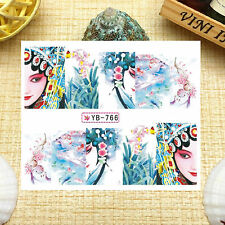 Nail Art Manicure Water Transfer Decal Stickers Peking Opera YB766