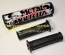 7/8'' Handlebar Grips And Metal Mulisha Cross Bar Pad Motocross Dirt Bike. USA!!
