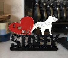 I Love My Staffy Staffordshire Bull Terrier de pie placa Perro, regalo