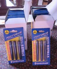 23- STAEDTLER MICROBALL ROLLER PEN REFILLS;  BLUE ~ #447