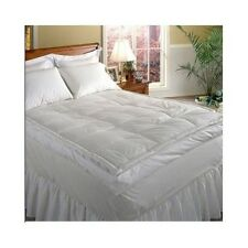 Down Mattress Topper Top Feather Bed Queen Hotel Grand 5 inch Pad Featherbed New