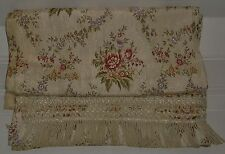 ANTIQUE SORAYA RAYON ANTIQUE VINTAGE FLORAL EMBROIDERED DRAPES & BEDSPREAD ITALY