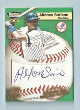 ALFONSO SORIANO 2000 PACIFIC REVOLUTION MLB GAME BALL SIGNATURE AUTOGRAPH AUTO