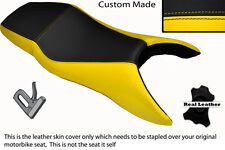 YELLOW & BLACK CUSTOM FITS HONDA CBR 600 F 99-08 F DUAL LEATHER SEAT COVER