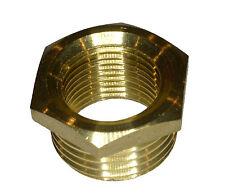 1/2 Inch x 3/8 Inch BSP Brass Hex Reducing Bush   British Standard Pipe Thread
