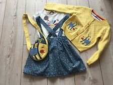 Girls Bee cardigan With skirt Braces Top And Bag Next Day Delivery Age 2/3 Years