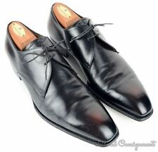 LIDFORT Black Antiqued Leather 2 Eye Derby Oxford Mens Dress Shoes UK 8 / US 8.5