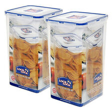 Lock & Lock 2-Square Food Storage Container 16.8 Cups in Clear (HPL822R) (2 Set)