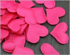 100 Pink Girls Heart Shaped Fabric Petal Wedding Supplies Table Bed decor Basket