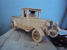 Vintage 1927-Chevy-pick-up Truck wood model Plan 12 inches long, 1/16 scale