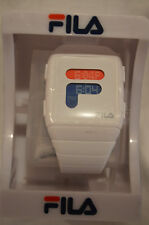 NEW FILA Digital WHITE,BLUE and RED Rubber Strap watch 38-105-001
